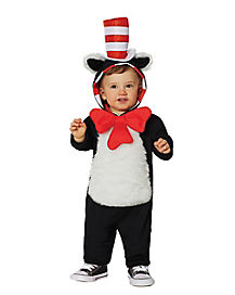 Baby Hooded Cat in the Hat One Piece Costume - Dr. Seuss
