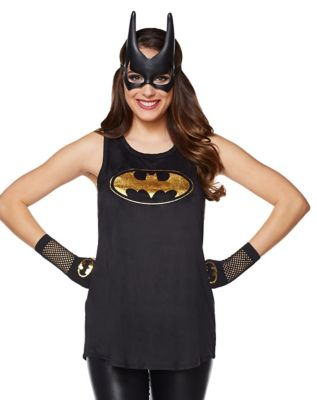 Suede Batman Tank Top - DC Comics  sc 1 st  Spirit Halloween & Adult Batgirl Cape Deluxe - DC Comics - Spirithalloween.com