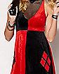 Adult Velvet Harley Quinn Costume - DC Comics