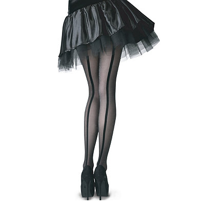 Victorian Steampunk Clothing & Costumes for Ladies Sheer Tights with Velvet Backseam $12.99 AT vintagedancer.com