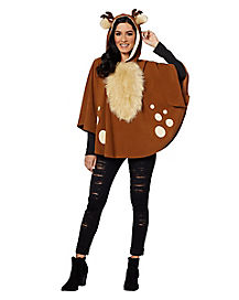 Adult Faux Fur Deer Poncho