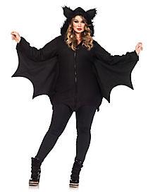 Adult Cozy Bat Plus Size Costume