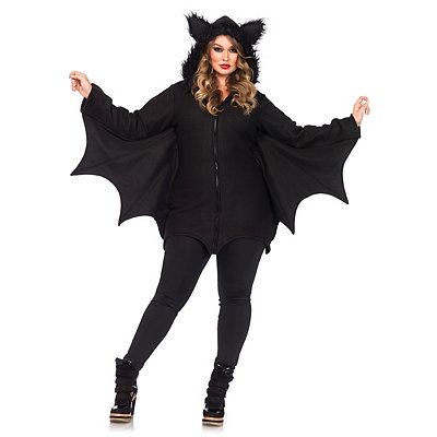 Edwardian Style Clothing Adult Cozy Bat Plus Size Costume $54.99 AT vintagedancer.com