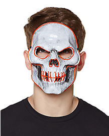 Doom Wire Light Up Skeleton Half Mask