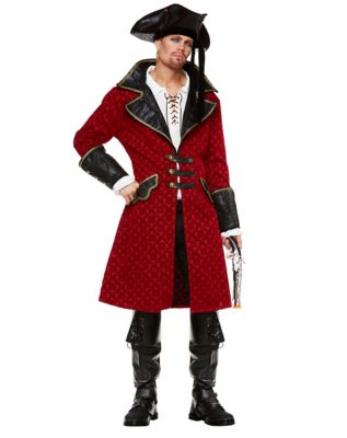 Men's Steampunk Costume Essentials Red Pirate Jacket by Spirit Halloween $49.99 AT vintagedancer.com
