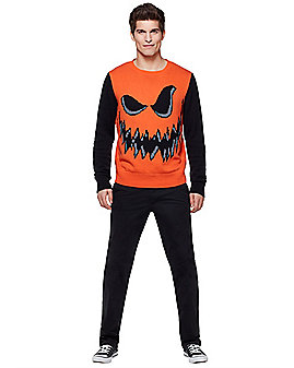 Adult Jack O'Lantern Sweater