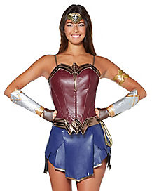 Adult Wonder Woman Corset - DC Comics  sc 1 st  Spirit Halloween & Best Wonder Woman Halloween Costumes for 2018 - Spirithalloween.com