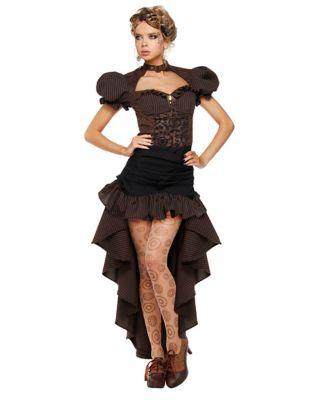 Steampunk Dresses | Women & Girl Costumes Adult Burn Out Steampunk Dress Costume by Spirit Halloween $69.99 AT vintagedancer.com