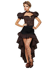Adult Burn Out Steampunk Dress Costume