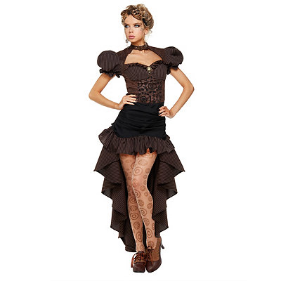 Victorian Steampunk Clothing & Costumes for Ladies Adult Burn Out Steampunk Dress Costume $69.99 AT vintagedancer.com