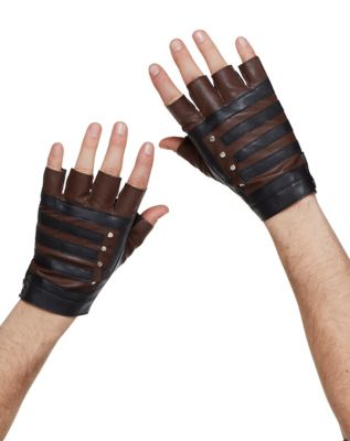 Vintage Style Gloves- Long, Wrist, Evening, Day, Leather, Lace Fingerless Steampunk Gloves by Spirit Halloween $9.99 AT vintagedancer.com
