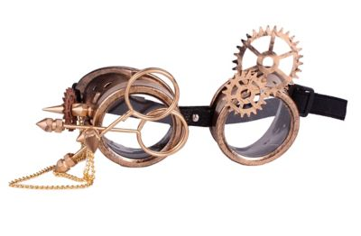 Retro Sunglasses | Vintage Glasses | New Vintage Eyeglasses Steampunk Goggles With Gears by Spirit Halloween $14.99 AT vintagedancer.com