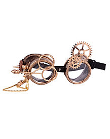 Steampunk Goggles With Gears