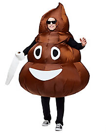 Adult Poop Emoji Inflatable Costume