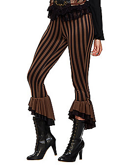 Adult Black and Brown Steampunk Pants