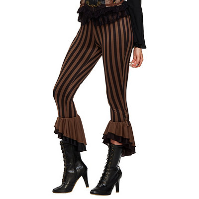 Retro Pants & Jeans Adult Black and Brown Steampunk Pants $19.99 AT vintagedancer.com