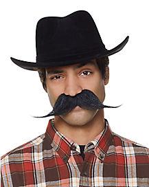 Brown Western Gambler Mustache