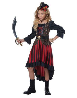 Steampunk Kids Costumes | Girl, Boy, Baby, Toddler Kids Buccaneer Beauty Costume by Spirit Halloween $49.99 AT vintagedancer.com