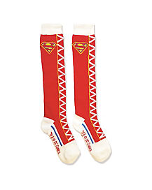 Kids Supergirl Knee High Socks - DC Super Hero Girls