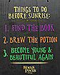 Things to Do Before Sunrise Hocus Pocus Sign Decorations - Hocus Pocus