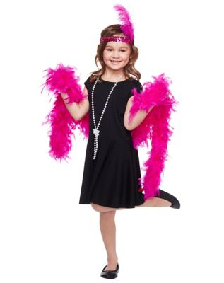 1920s Children Fashions: Girls, Boys, Baby Costumes Kids Flapper Kit by Spirit Halloween $12.99 AT vintagedancer.com