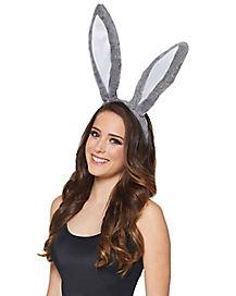 Gray Bunny Ear Headband