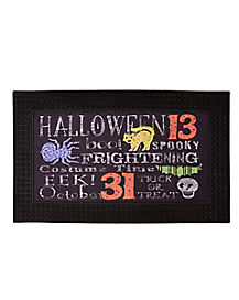 Halloween Words LED Sound Doormat