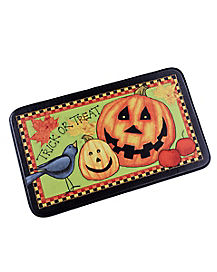 Trick or Treat LED Pumpkin Doormat