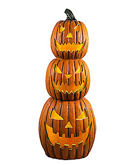 1.5 Ft Light Up Pumpkin Stack - Decorations