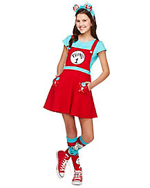 Tween Thing 1 and 2 Jumper Dress Costume - Dr. Seuss