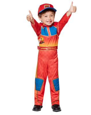 toddler lightning mcqueen one piece costume cars