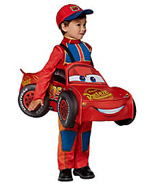 Toddler Lightning McQueen 3D Car Ride-A-Long  Costume - Cars