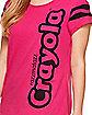 Razzmatazz Pink Crayon T Shirt - Crayola