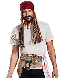Adult Jack Sparrow Costume Kit - The Pirates of the Caribbean
