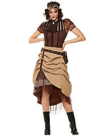 Steampunk Long Ruffle Skirt