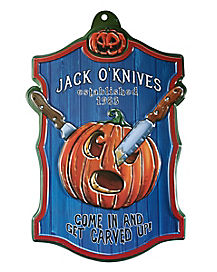 21 Inch Jack O'Knives Sign - Decorations