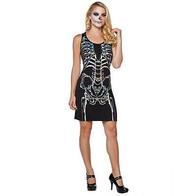 Vintage Retro Halloween Themed Clothing Skeleton Tank Dress $32.99 AT vintagedancer.com
