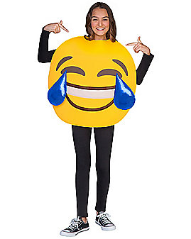 Kids Laughing Crying Emoji Costume