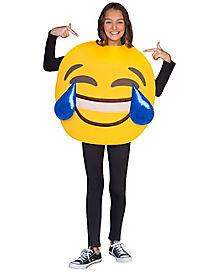 Kids Laughing Crying Emoji Costume