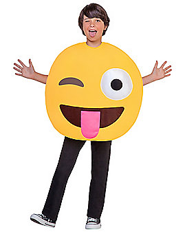 Kids Winking Tongue Emoji Costume