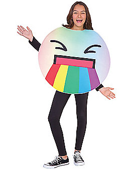 Kids Puking Rainbow Emoji Costume