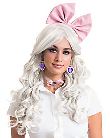 Pink Doll Bow Headband