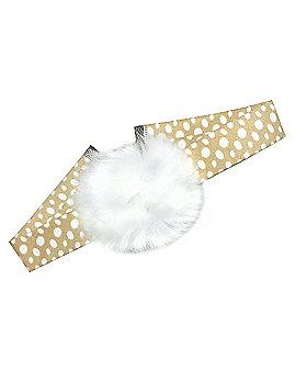 Faux Fur Pom Deer Choker Necklace