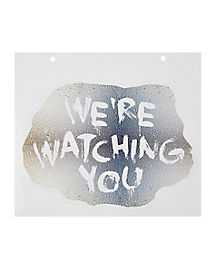 11.5 Inch We're Watching You Mirror Cling - Decorations
