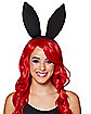 Black Bunny Ears Headband