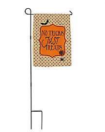 No Tricks Just Treats Yard Flag