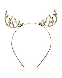 Rhinestone Deer Antler Headband