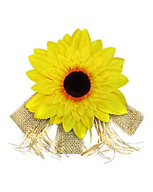 Sunflower Scarecrow Hair Clip