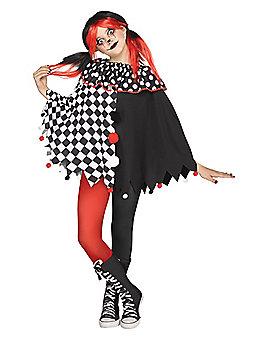Kids Clown Poncho