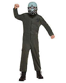 Kids Light-Up Biohazard One Piece Costume
